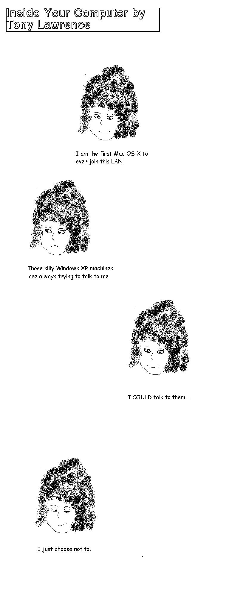 Cartoons :Ms. Mac OS X