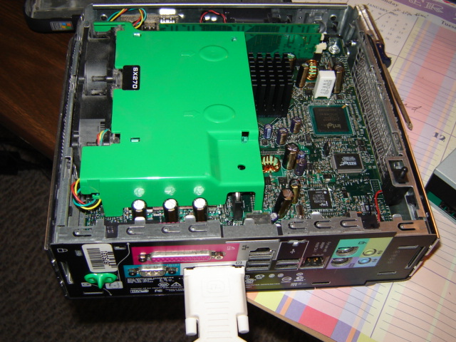 Optiplex SX270 with cover removed