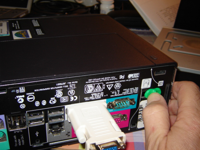 Rear view of Optiplex SX270