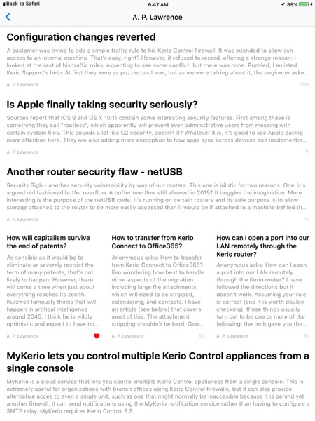 My feed in Apple News