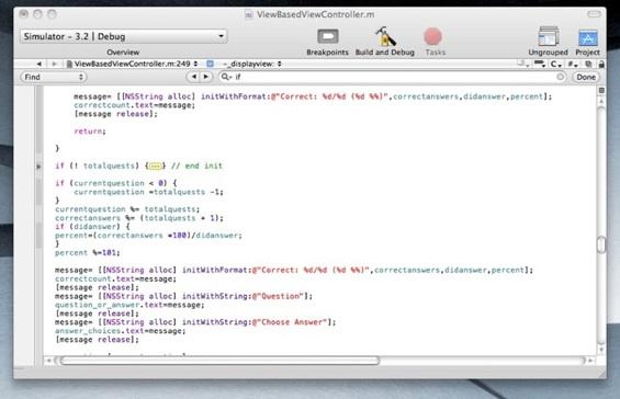 Xcode Focus