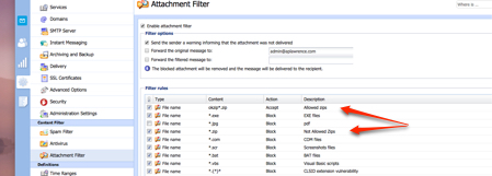 An example of advancec attachment filtering