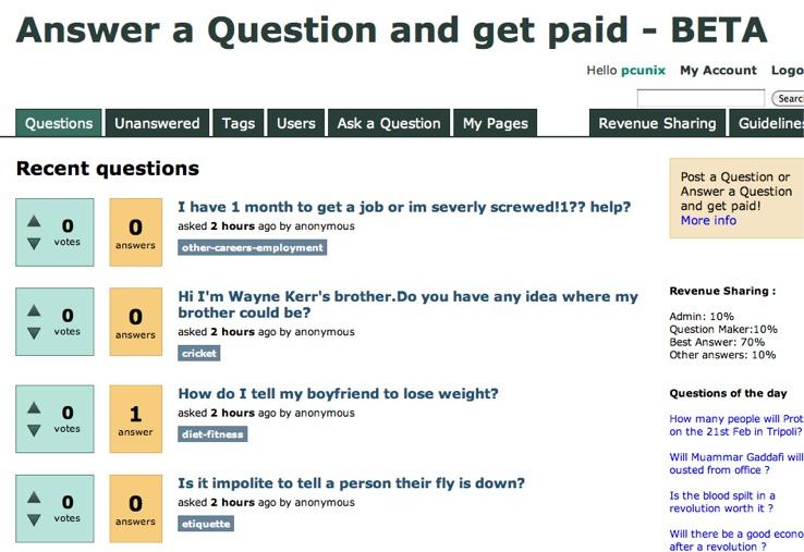 Screenshot of Answerspay.com