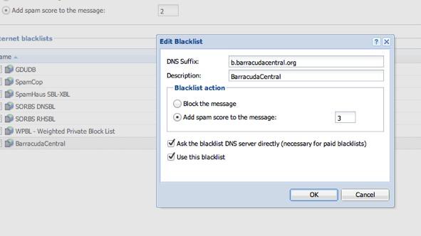 Kerio Mail Server Spam Filtering