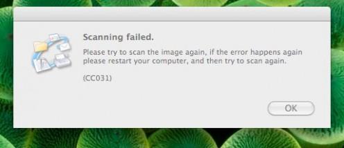 Scanning error