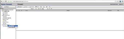 Creating a new Public Contact Folder