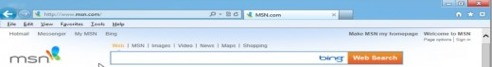 Tools menu modern Internet Explorer