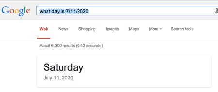 Google knows what day it is
