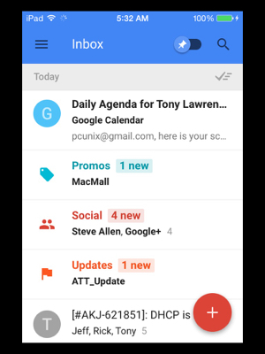 Inbox IOS app