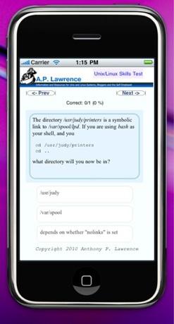 picture of app in iPhone simulator