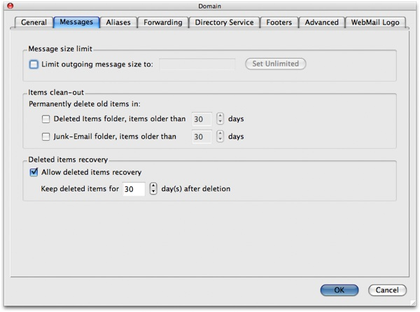 Kerio Mailserver Resource Scheduling and Message Management