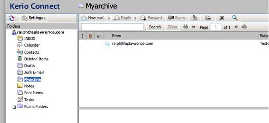 Ralph in Kerio Webmail