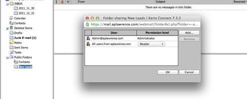 Folder rights