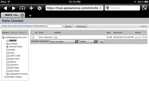 Kerio Webmail Mini
