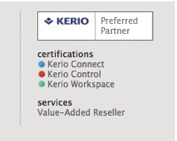 Certified for all Kerio products