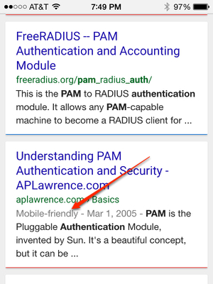 Mobile friendly tag in Google search