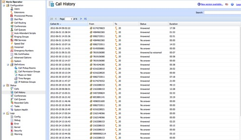 Kerio Operator Call Log