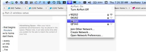 OS X Airport control