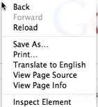 Chrome on Mac