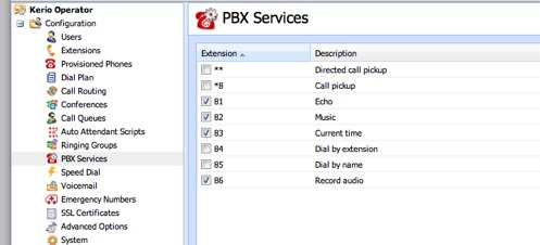 Adding PBX services
