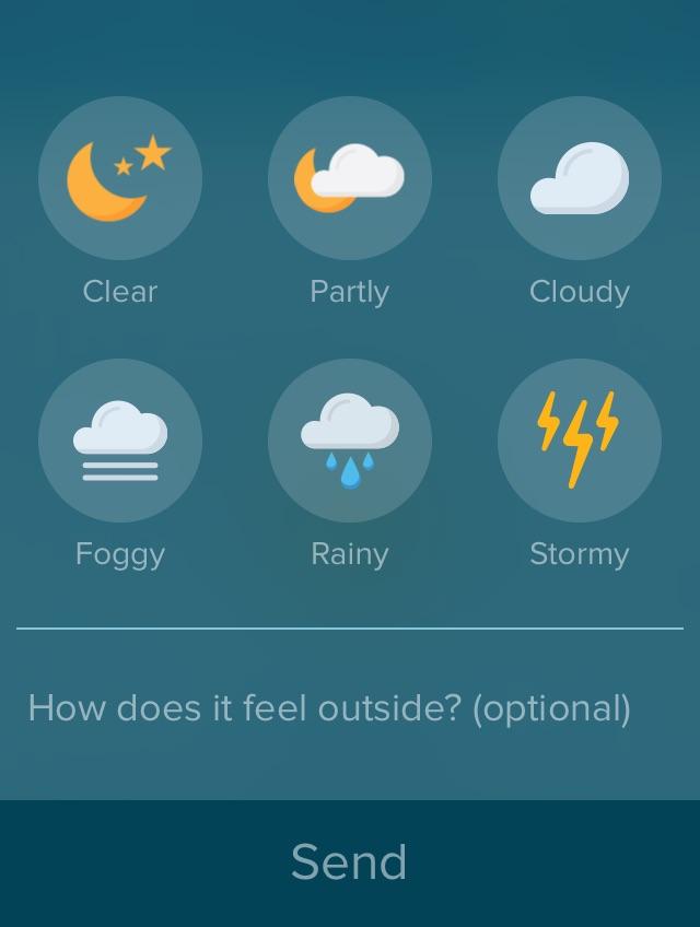 Sunshine weather app
