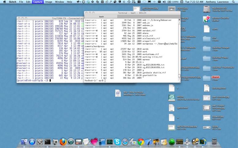 TinyTERM ITX and Mac Terminal