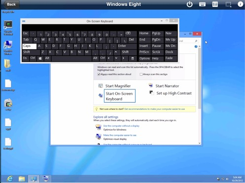 Win 8 on-screen keyboard is sometimes convenient
