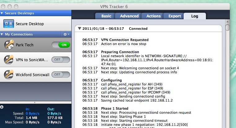 Creating the VPN with VPN Tracker 6