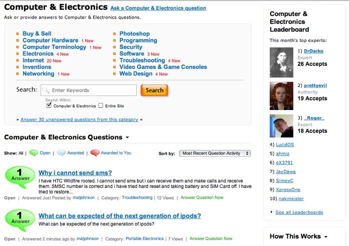 Screenshot of Webanswers.com
