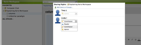 Workspace Sharing Rights
